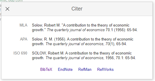 Citationsformater i Google Scholar